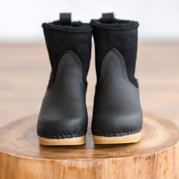 No. 6 5-Inch Shearling Boot on Mid Heel Platform - SOLD OUT