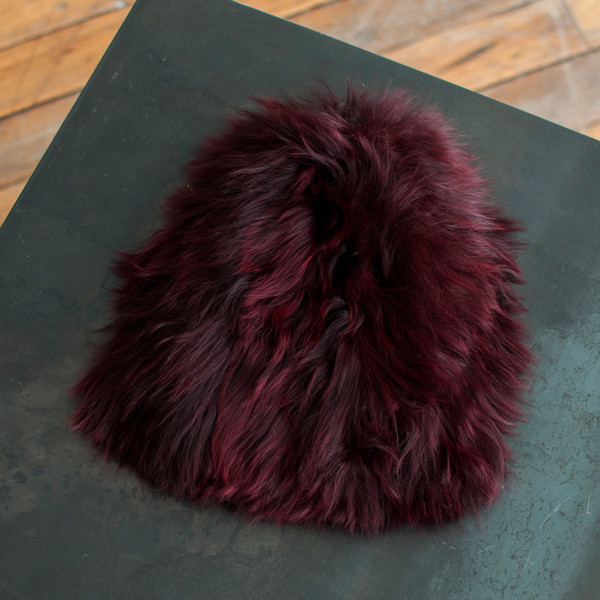 Rachel Comey Fur Beanie Wine - SOLD OUT