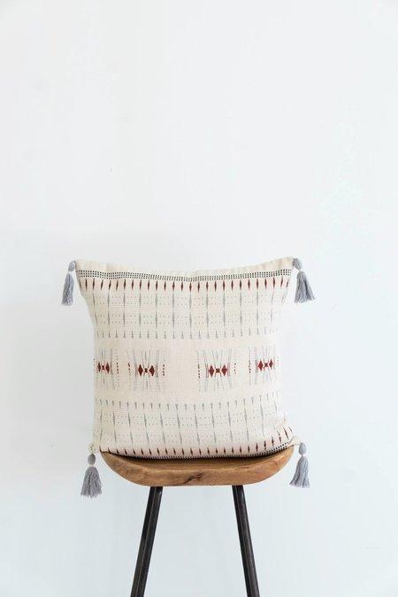 Karu Nagaland Cushion - Ivory/Rust