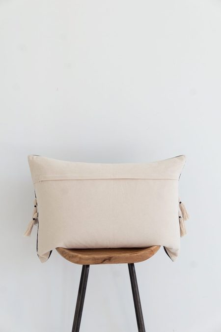 Karu Nagaland Bolster Cushion - Midnight/Ivory
