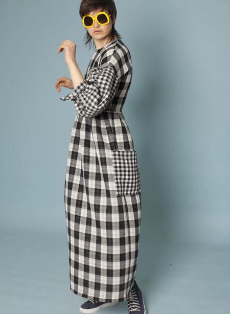 LF markey Joe Dress - Black Check Cotton