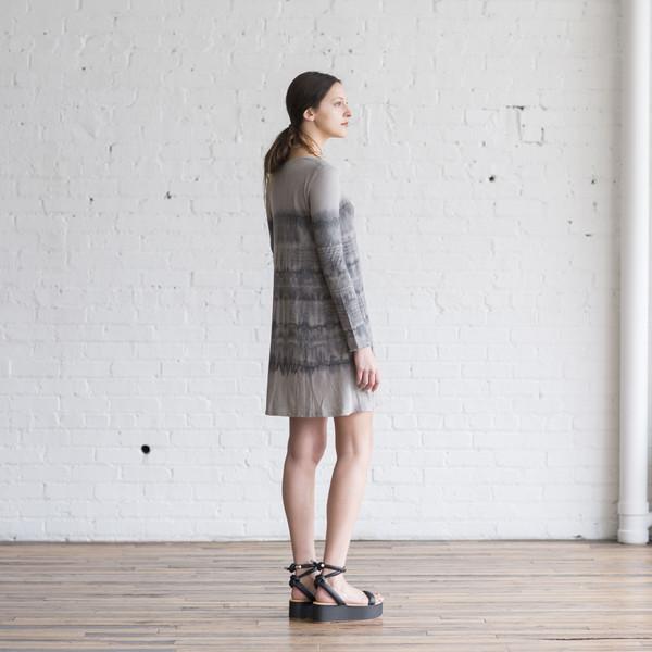 Raquel Allegra Signature Jersey Long Sleeve Bell Dress