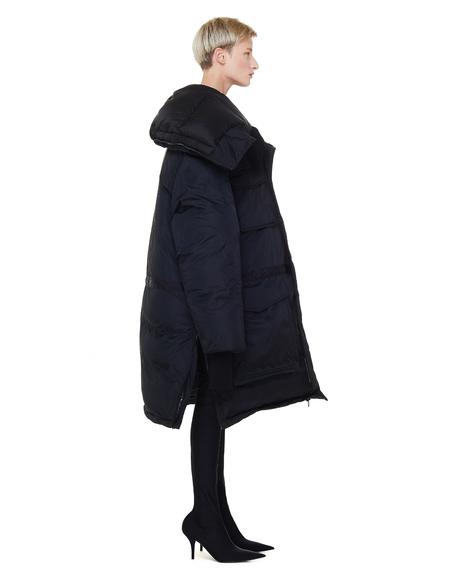 Vetements Hooded Puffer Coat - Black