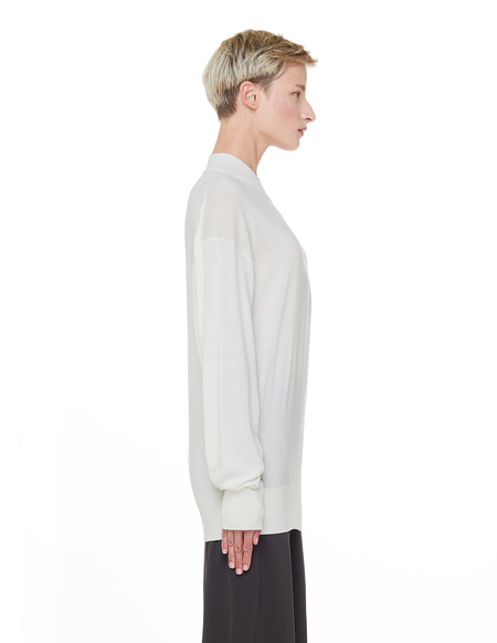 The Row Wool & Cashmere Taryn Sweater - White