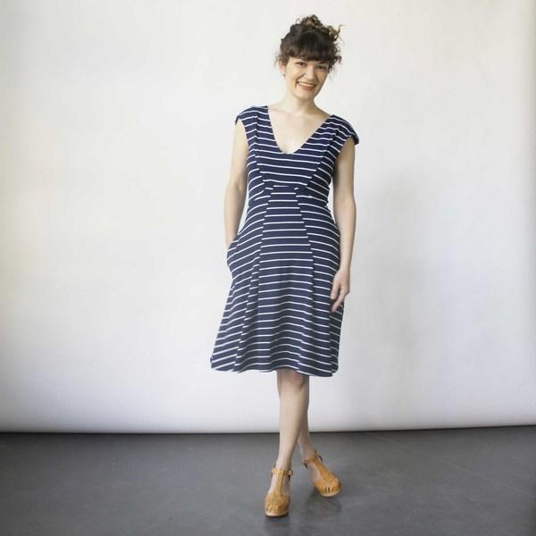 Lizz Basinger Bent Dart A-Line Dress