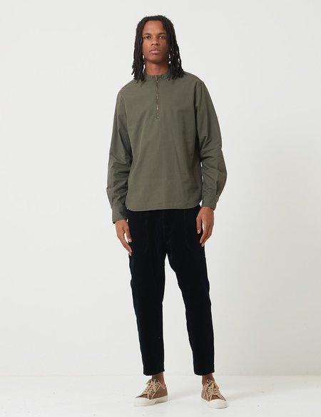 Bleu De Paname Biaude 1/4 Zip Shirt - Kaky Military Green