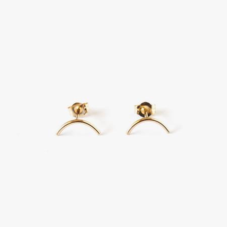 Giantlion Mini Arc Earrings in Yellow Gold