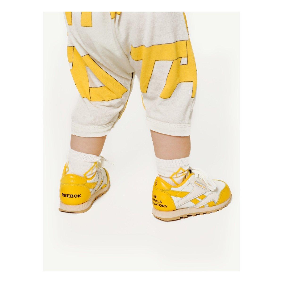 the animals observatory x reebok classic sneaker yellow – kodomo