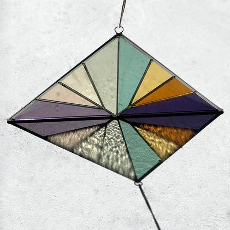 Debbie Bean Large Triangle Suncatcher - Summer
