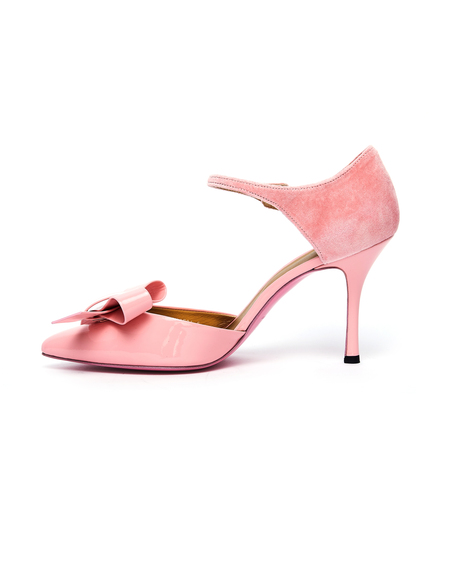 Undercover Leather Bow Pumps - Pink
