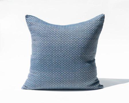 SSEN Handwoven Geo III Pillow Cover - Blue