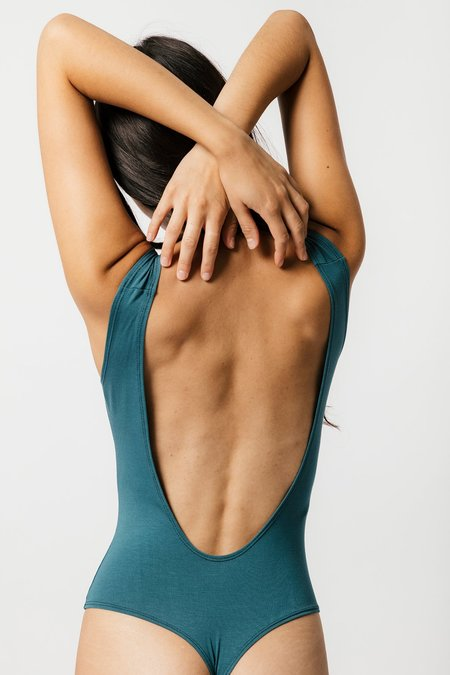 Mary Young Sample Backless Thong Bodysuit - Teal
