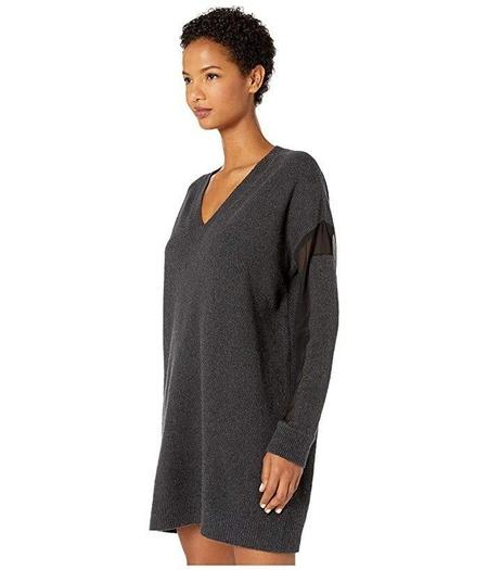 McQ V NECK TUNIC DRESS - gray