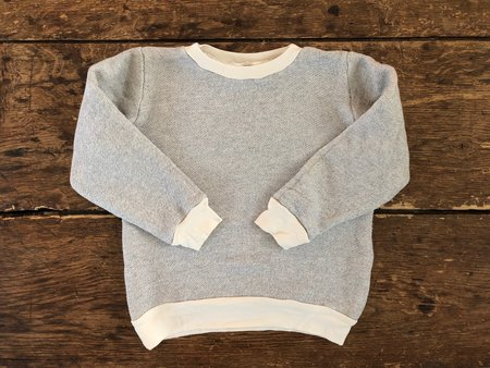 Kids Go Gently Nation Textured Crewneck - Natural
