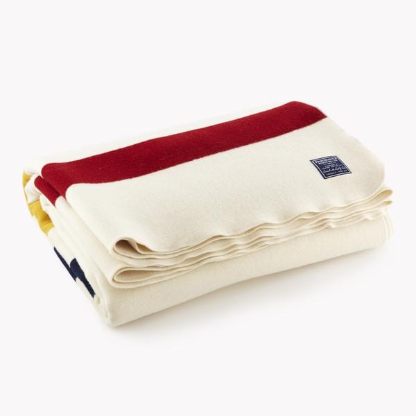 Faribault Revival Stripe Wool Blanket