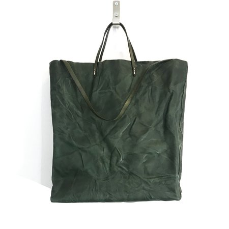 Uppdoo Cabas Distressed Shopper - Green