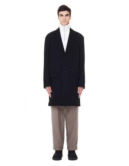 The Row Joseph Yak Wool Coat - Black
