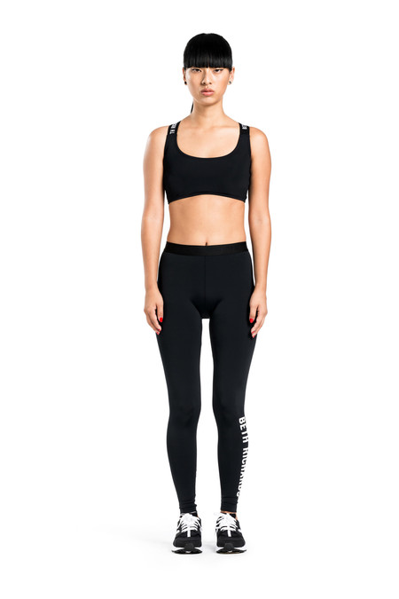 BETH RICHARDS Masi Legging - Black BASIC LEGGING WITH LOGO ELASTIC AND HIGH DENSITY STRETCH LOGO ON LEFT LEG