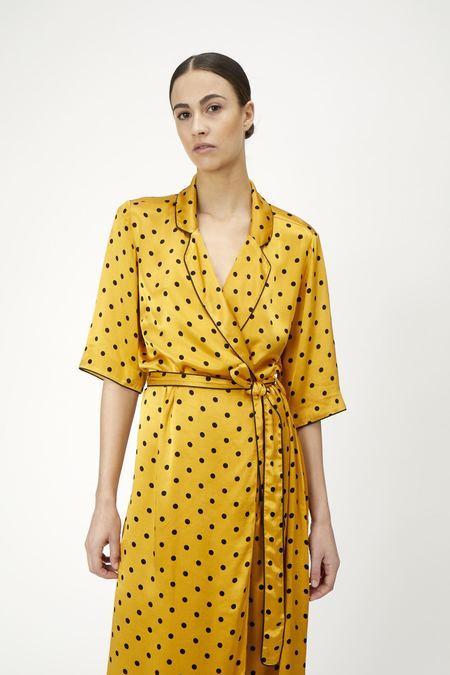 Just Female Ruby Wrap Dress - Sunflower Dot