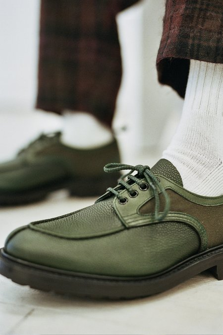 Nicholas Daley Tricker's Apron Shoe - Green