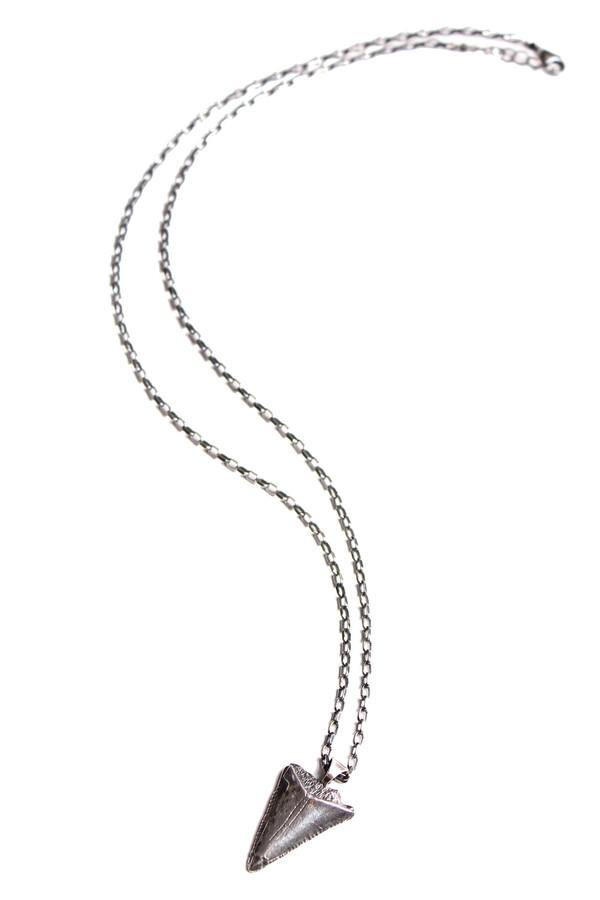 Sarah Dunn Silver Shark Tooth on Oxidized Chain