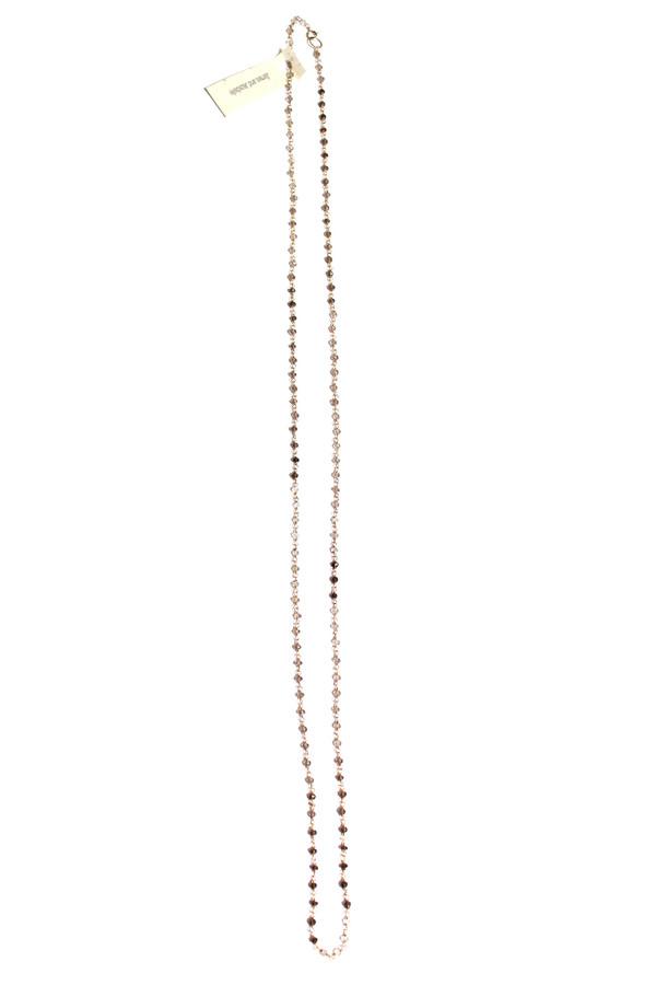 James and Jezebelle Smokey Topaz & Aqua Marine Necklace