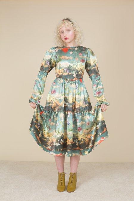 Samantha Pleet Horizon Dress - Passion Flower Print