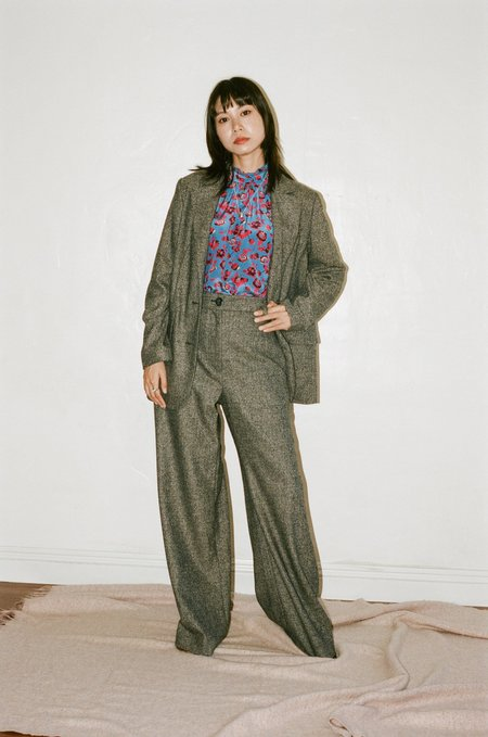No.6 Owen Pant - Charcoal Tweed