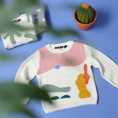 Kids Mini Kardi Painting Sweater