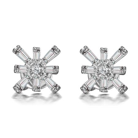 Hestia Jewels Star Diamond Stud Earrings