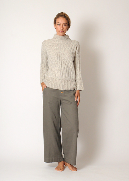Kordal Tate Ribbed Sweater - fog grey