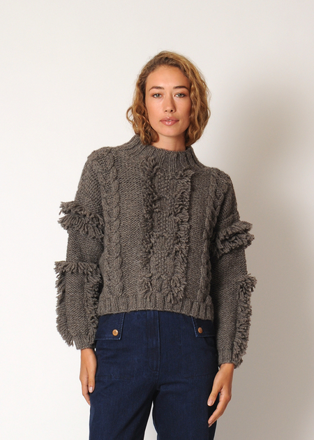 Kordal Cable Knit Sweater - Fog Grey