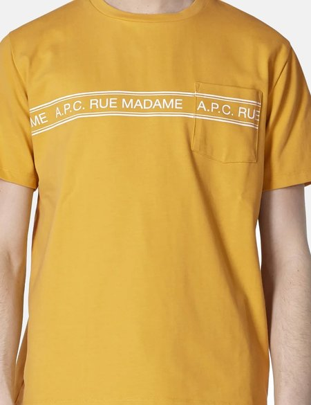 A.P.C. Rue Madame T-Shirt - Yellow