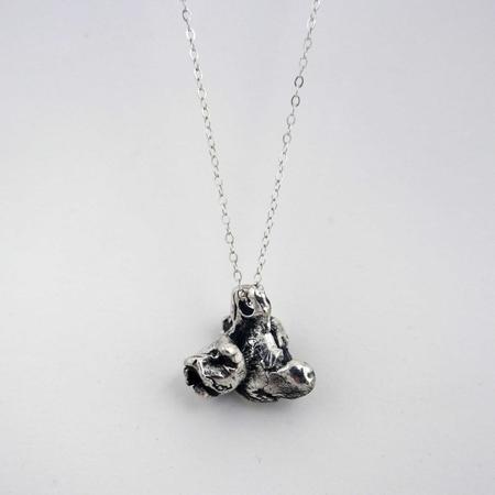 Gold Teeth Brooklyn Popcorn Necklace - Silver
