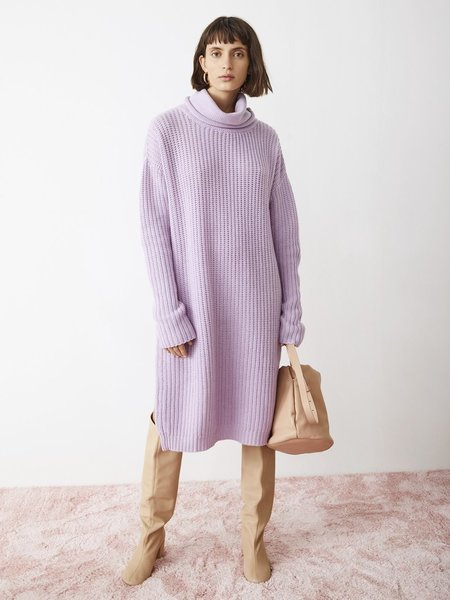 AERON Turtleneck Sweater Dress - Lilac