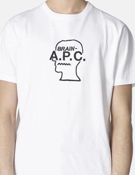 A.P.C. x Brain Dead Spooky T-Shirt - Blanc White