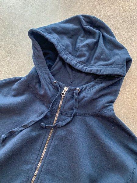 Save khaki United Supima Fleece Zip Hooded Sweatshirt - Navy