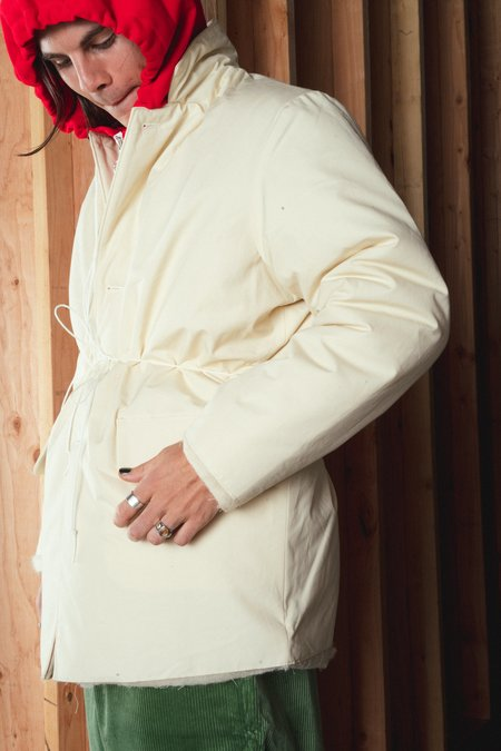 Camiel Fortgens Padded Square Waxed Cotton Jacket - White