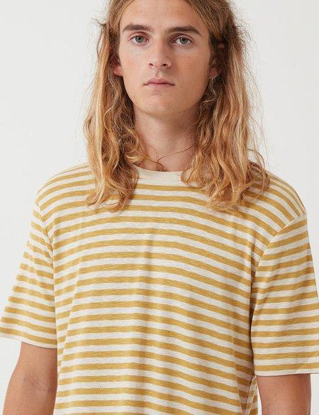 Folk Classic Stripe Tee - Straw Yellow/Ecru White