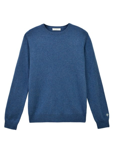 PURE CASHMERE NYC Crew Neck Sweater - Dust Blue