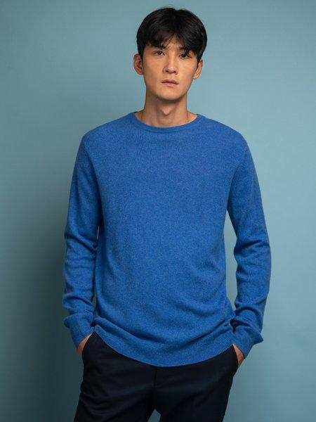 PURE CASHMERE NYC Crew Neck Sweater - Parade Blue