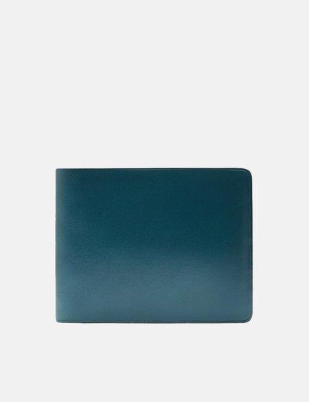 Il Bussetto Bi-Fold Leather Wallet - Ocean Blue