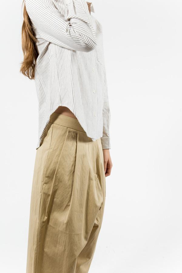 You Must Create Linen Stripe Shirt