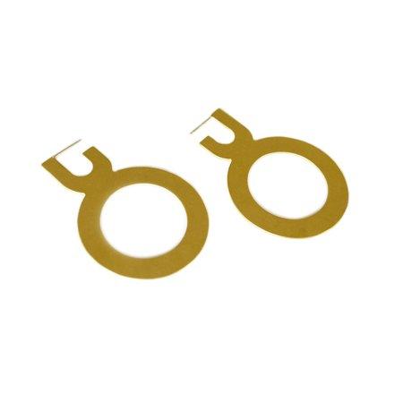 Joy Outer Circle Hoops - Brass