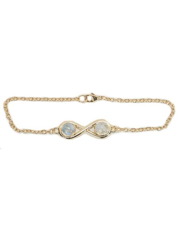 Pamela Love Gold Infinite Bracelet with Moonstone