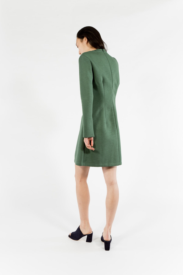 être cécile Long Sleeve A-Line Mini Dress