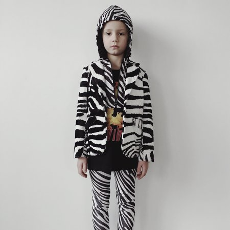 kids caroline bosmans zebra printed leggings