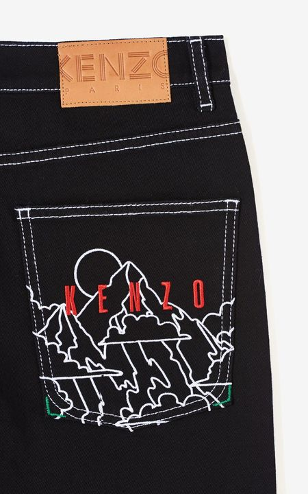 Kenzo Back Embroidery Skinny Jeans - Black