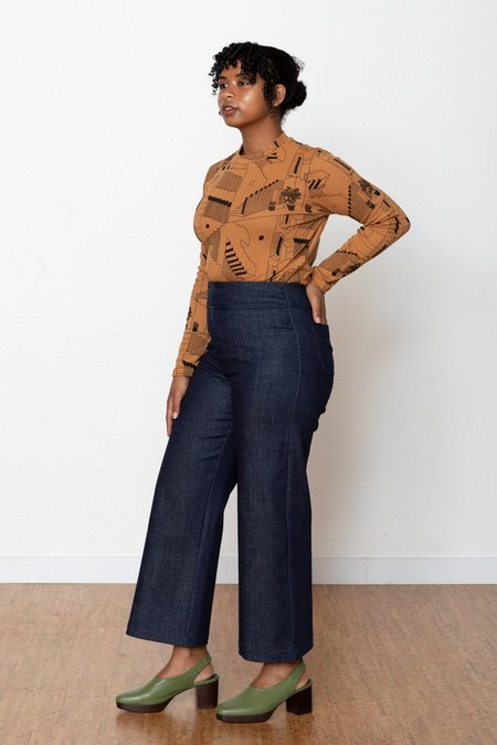 North Of West Monica High Rise Pant - Denim