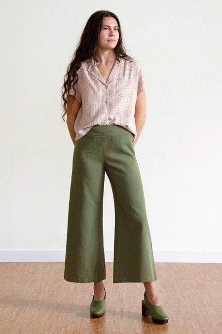 North Of West Tencel Wide Leg Pants #2 - Avocado